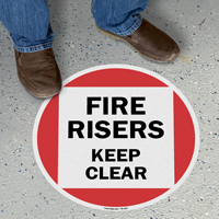 Fire Risers Keep Clear SlipSafe Floor Sign