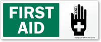 First Aid (with hand graphic)