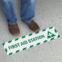 First Aid Station with Symbol Sign