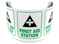 180 Degree Projecting First Aid Station Sign