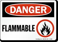 OSHA Danger Flammable Sign