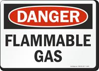 OSHA Danger Flammable Gas Sign