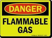 GlowSmart Flammable Gas Sign