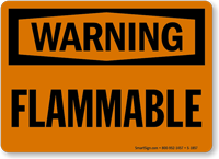 Flammable OSHA Warning Sign