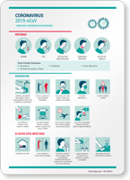 Flu Safety Advice Tips Symptoms Prevention Spanish Sign
