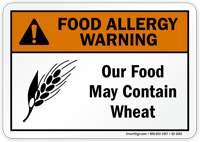 Food May Contain Wheat Allergy Warning Sign