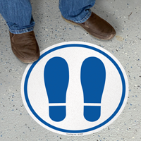 Footprints Symbol SlipSafe Floor Sign