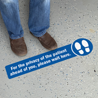 For The Privacy Of The Patient Please Wait Here Floor Sign
