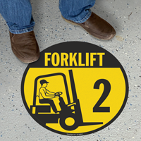 Forklift -2 (with Graphic) - Floor Sign