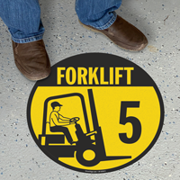 Forklift -5 (with Graphic) - Floor Sign