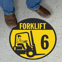 Forklift -6 (with Graphic) - Floor Sign