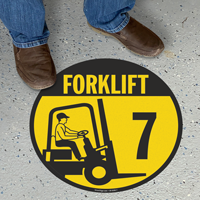 Forklift -7 (with Graphic) - Floor Sign
