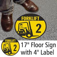 Forklift ID 2 Floor Sign & Label Kit