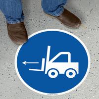 Forklift Left Circular Floor Sign