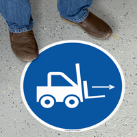 Forklift Right Symbol Floor Sign