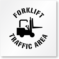 Forklift Traffic Area Stencil