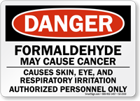 Formaldehyde May Cause Cancer Danger Sign