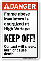 High Voltage ANSI Sign