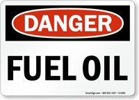 Danger Fuel Oil Sign