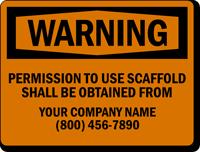Fully Custom Safety Sign