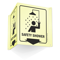 Safety Shower (with arrow and graphic)