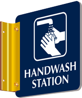 Hand Wash Station Two Sided Spot-a-Signs