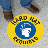 Hard Hat Required SlipSafe Floor Sign