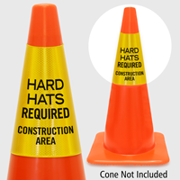 Hard Hats Required Construction Area Cone Collar