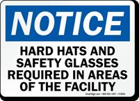 Hard Hats Safety Glasses Sign
