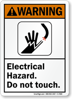 Electrical Hazard Do Not Touch Warning Sign