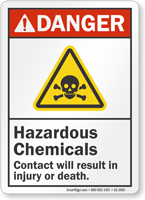 Hazardous Chemicals ANSI Danger Sign