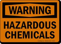 Warning Hazardous Chemicals Sign