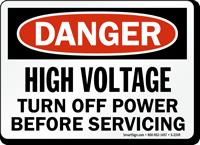 Danger Hazardous Voltage Turn Off Power Sign