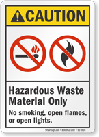 Hazardous Waste Material Only ANSI Caution Sign