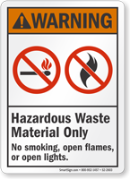 Hazardous Waste Material Only ANSI Warning Sign