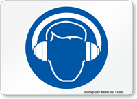 Hearing Protection Symbol Sign