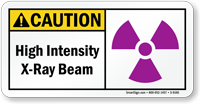 High Intensity X-Ray Beam Sign