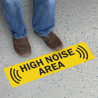 High Noise Area Adhesive Floor Sign