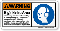 High Noise Area ANSI Warning Sign