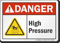 High Pressure ANSI Danger Sign