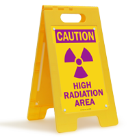 High Radiation Area Standing Floor Sign