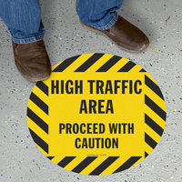 Caution High Traffic Area SlipSafe™ Floor Sign