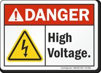 High Voltage ANSI Danger Sign