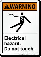 Warning (ANSI) Electrical Hazard Sign