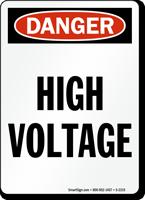 Danger: High Voltage (vertical)