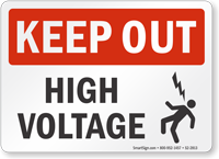 High Voltage Keep Out Sign