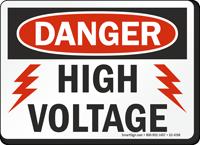 High Voltage OSHA Danger Sign