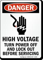 Danger Sign: High Voltage Turn Power Off