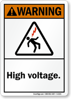 Warning ANSI High Voltage Sign