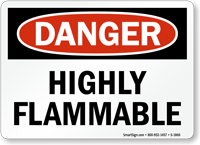 Highly Flammable Danger Sign